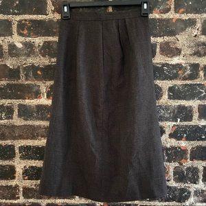 Vintage brown plaid skirt